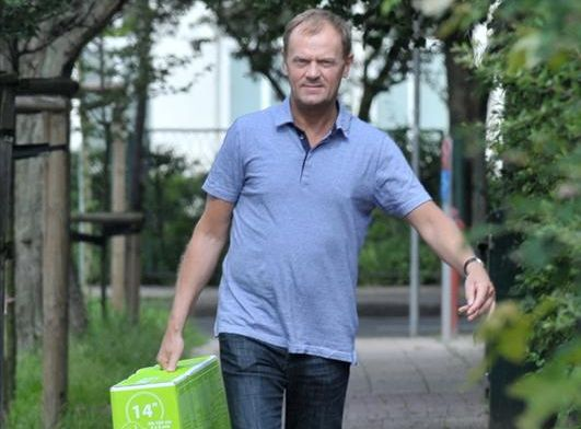 Donald Tusk kupił wnukowi rowerek