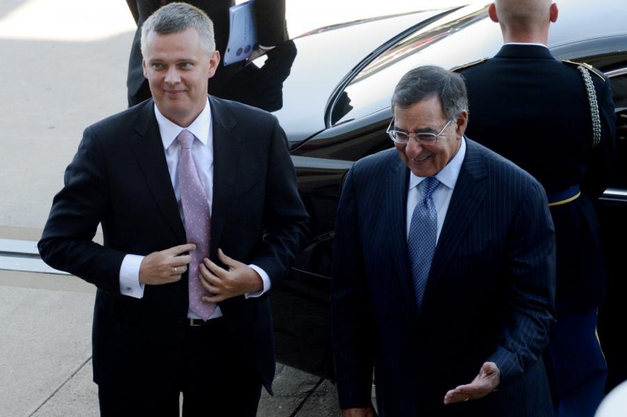 Minister obrony Tomasz Siemoniak i szef Pentagonu Leon Panetta