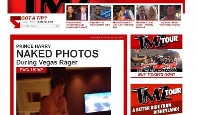 Zdjęcia księcia Harrego w portalu TMZ