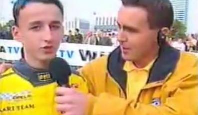 Robert Kubica i Maciej Kurzajewski