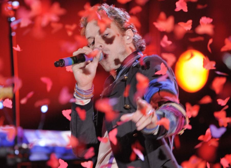 Chris Martin i Coldplay na gali MTV Movie Awards 2008