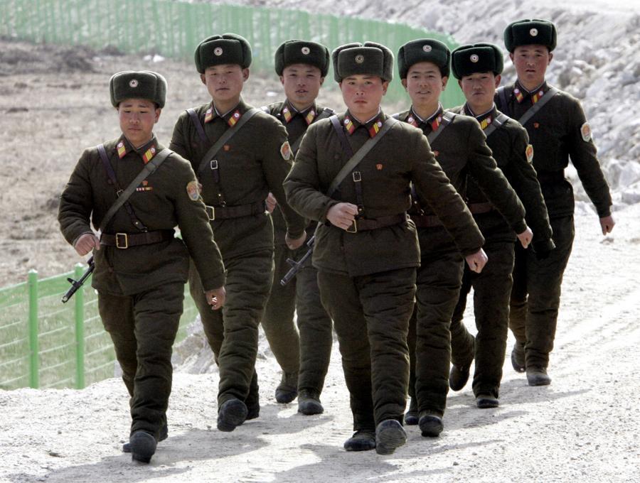 Patrol żołnierzy Korei Północnej