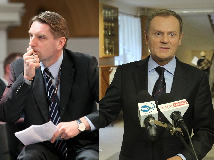 Tomasz Lis i Donald Tusk