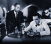 "Dooley Wilson i Humphrey Bogart w filmie ""Casablanca"""
