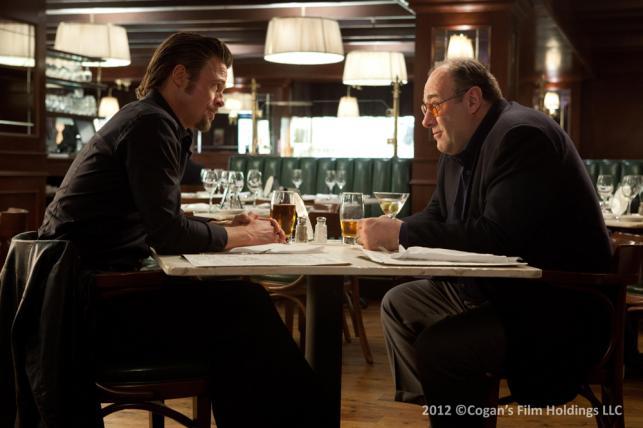 """James Gandolfini i Brad Pitt w filmie """"Zabić, jak to łatwo powiedzieć"""""""