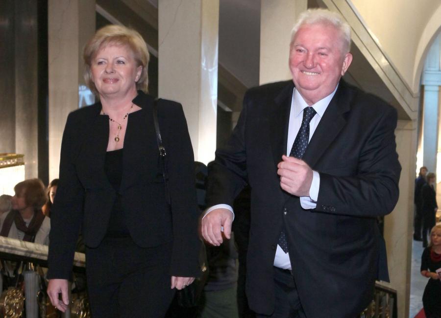 Andrzej Turski z żoną
