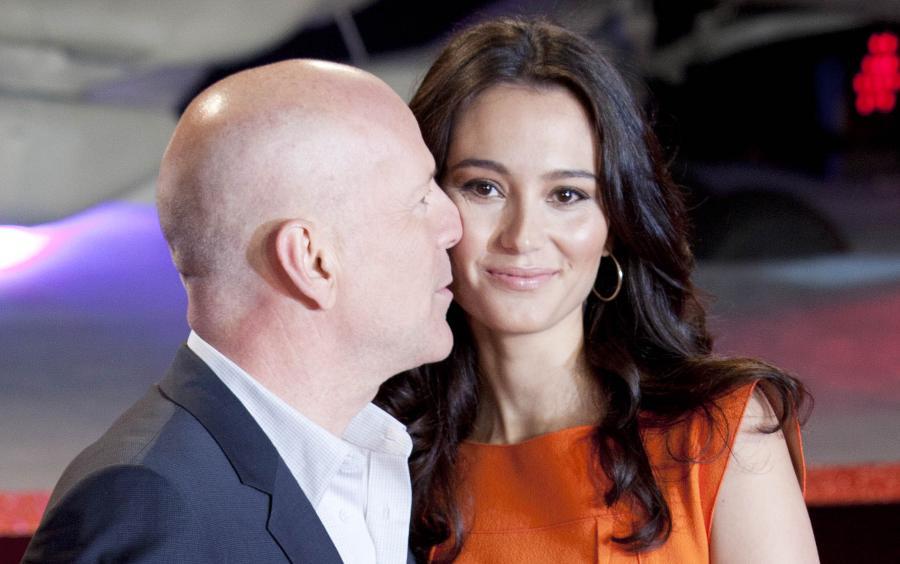 Bruce Willis z żoną Emmą Heming w Londynie