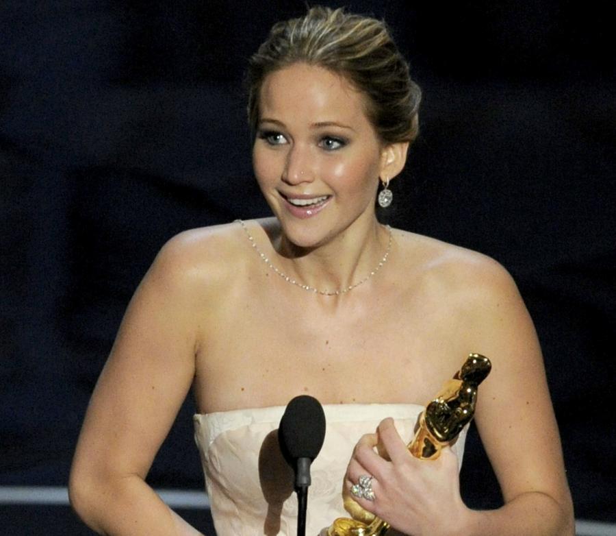 Jennifer Lawrence ze swoim pierwszym Oscarem