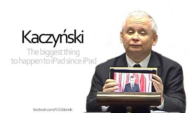 Kaczyński z tabletem. Najlepsze MEMY
