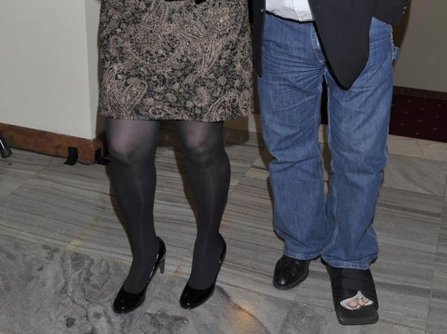 Nogi Lidii i Jerzego Owsiaków