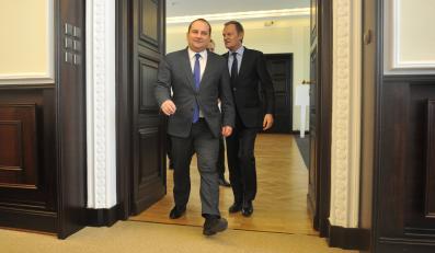 Tomasz Arabski i Donald Tusk
