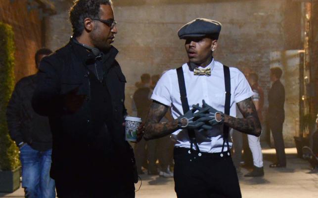 "Chris Brown na planie ""Fina China"""