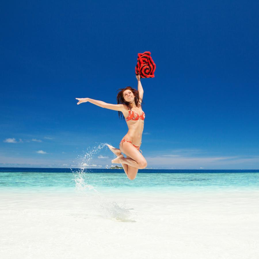 Kobieta na wakacjach