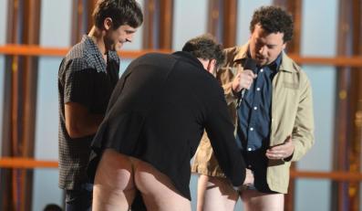 Zac Efron, Seth Rogen i Danny McBride podczas gali MTV Movie Awards 2013