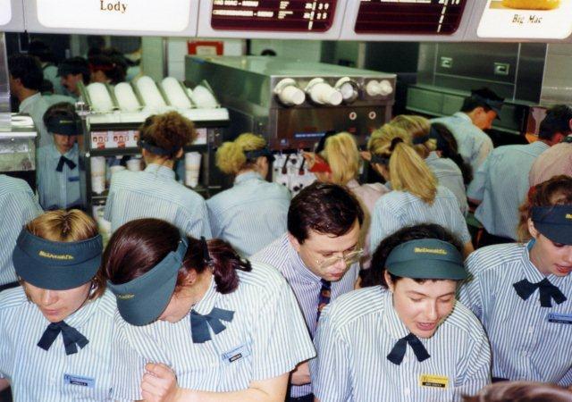 Otwarcie restauracji McDonald's w Warszawie