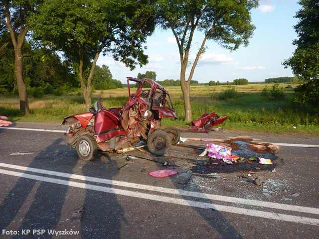 Wypadek w miejscowości Poręba-Kocęby