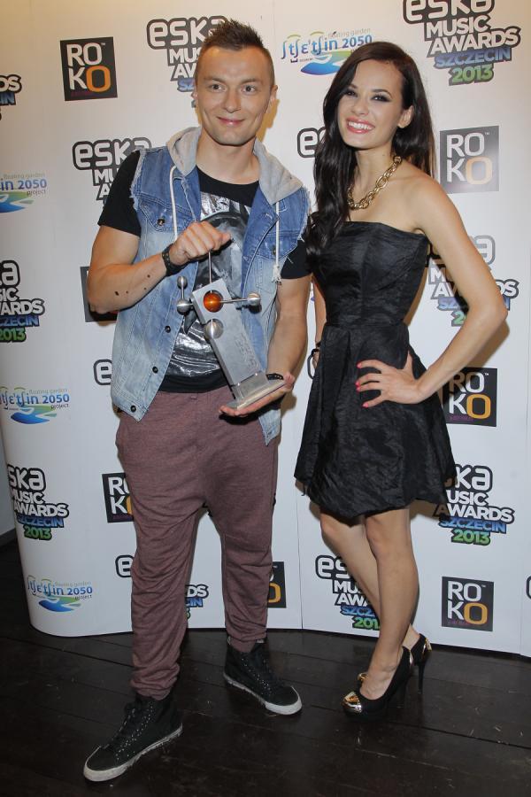 Liber i Natalia Szroeder na gali Eska Music Awards 2013
