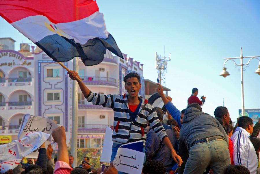 Demonstracja w Hurghadzie