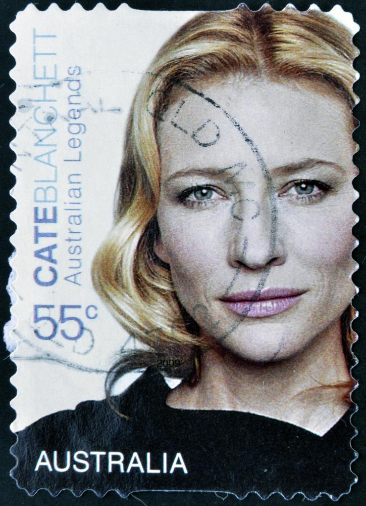 Cate Blanchett na australijskim znaczku pocztowym