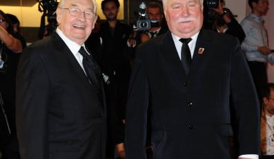Andrzej Wajda i Lech Wałęsa