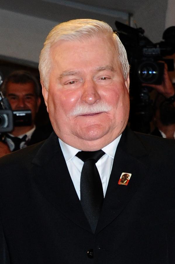 Lech Wałęsa na premierze filmu