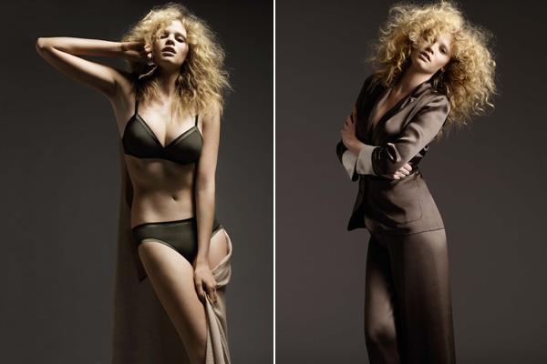 Holenderska modelka Lara Stone wystąpiła w bieliźnie firmy Eres. Jak wam się podonba taki mroczny styl?