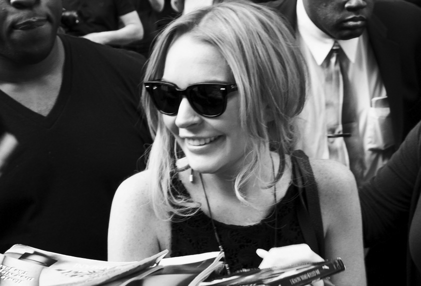 Lindsay Lohan pracuje w studiu