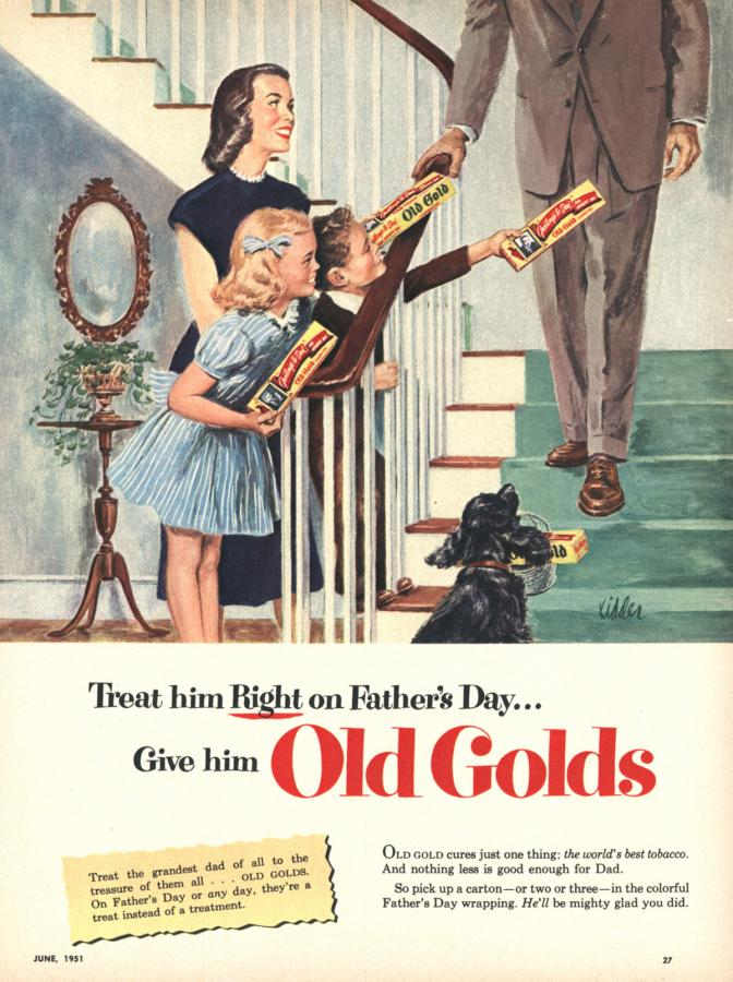 "Papierosy ""Old Gold"", rok 1951"