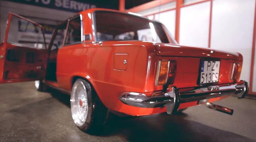 Fiat 125p coupe z silnikiem od volkswagena golfa R32