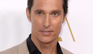 Matthew McConaughey w trybie świętowania