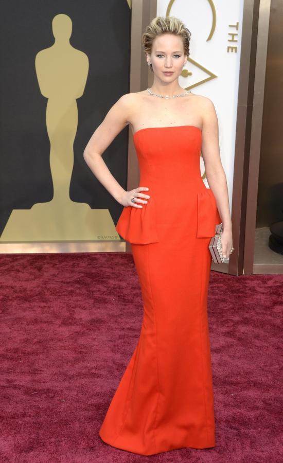 Jennifer Lawrence na gali Oscarów 2014