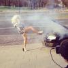 """Maria Sadowska na planie klipu do piosenki """"Life Is A Beat"""""""