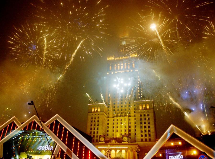 Polska hucznie powitała Nowy Rok