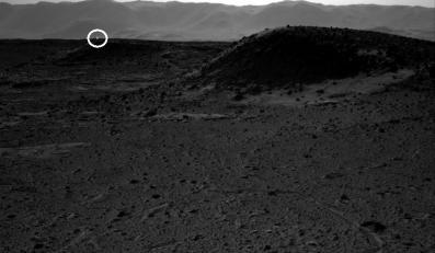"""""""Światło"""" na Marsie, zdjęcie wykonane przez łazik Curiosity"""