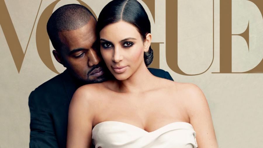 Kim Kardashian i Kanye West na okładce \