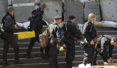 Ukraińscy milicjanci w Mariupolu