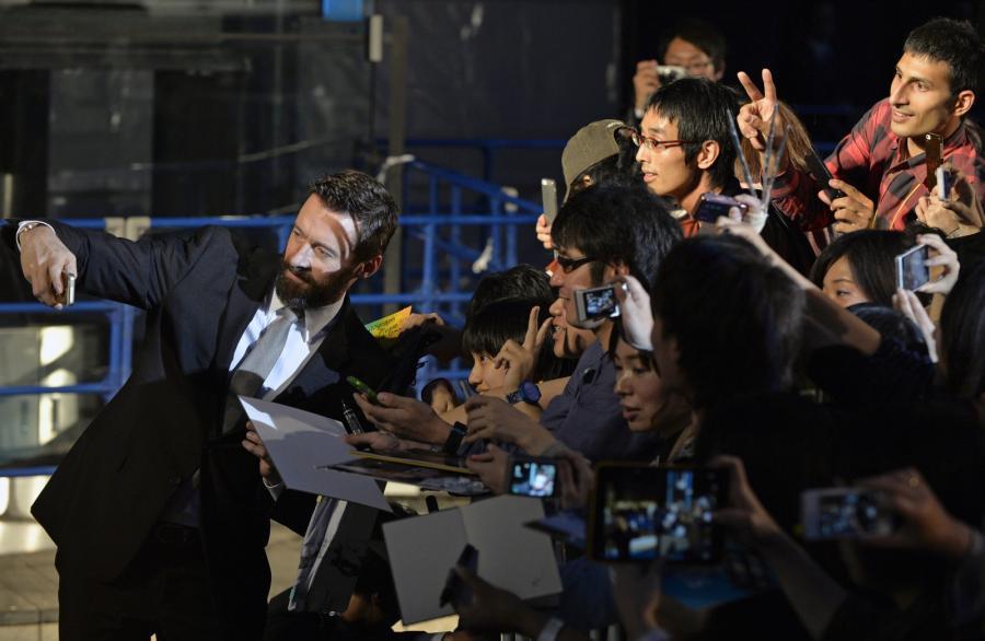 """Hugh Jackman na premierze filmu """"X-Men: Przeszłość, która nadejdzie"""""""