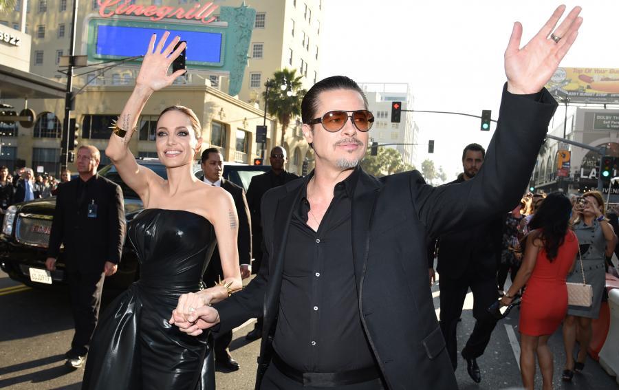 Angelina Jolie i Brad Pitt na amerykańskiej premierze \