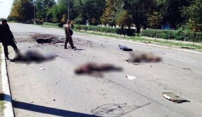 Ofiary zasadzki separatystów w Szachtarsku