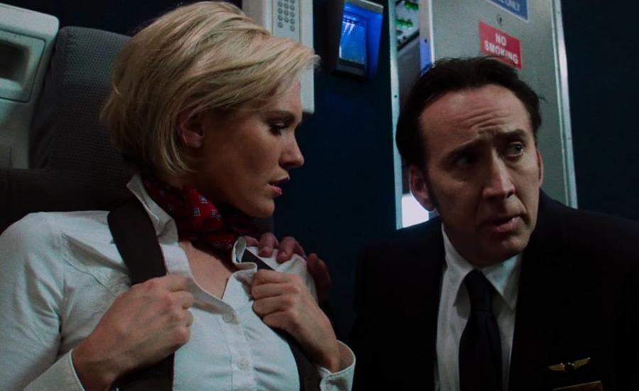 "Nicky Whelan i Nicolas Cage w filmie ""Left Behind"""