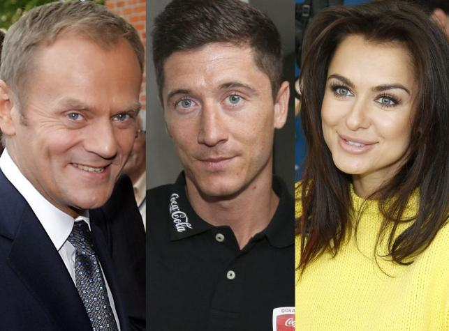 Donald Tusk, Robert Lewandowski, Natalia Siwiec