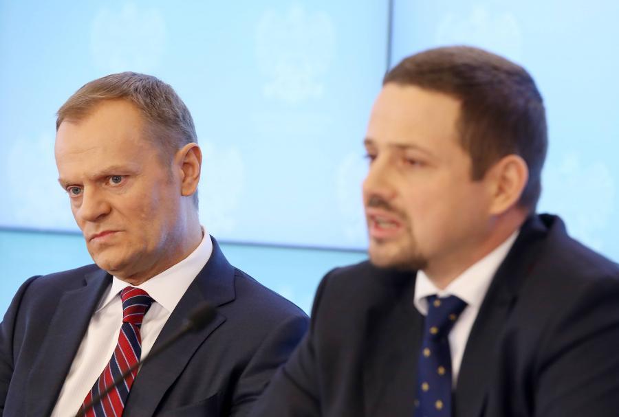 Donald Tusk i Rafał Trzaskowski