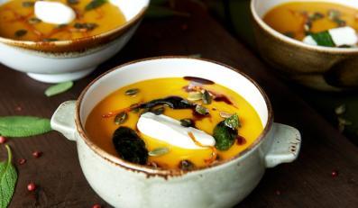 Zupa z pieczonej dyni