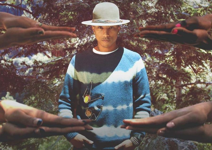 "Pharrell Williams na okładce singla ""Gust of Wind"""