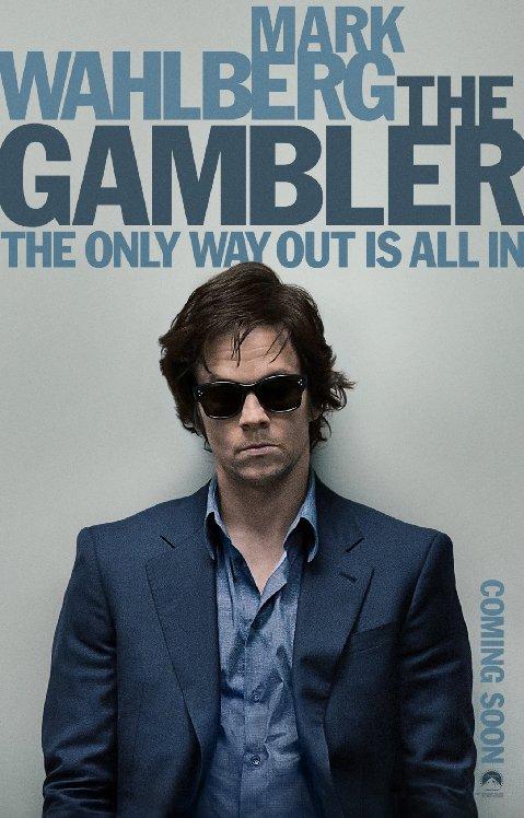 """Mark Wahlberg na plakacie zapowiadającym """"The Gambler"""""""