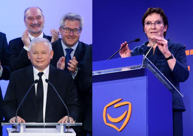 Jarosław Kaczyński i Ewa Kopacz