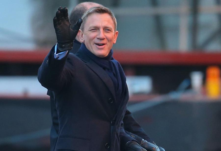 Daniel Craig na planie \