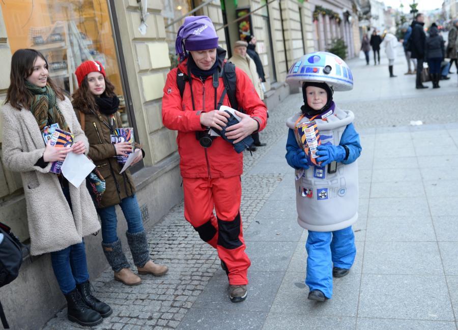 Kwesta na ulicach Warszawy podczas 23. Finału WOŚP,