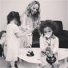 Mariah Carey ze swoimi bliźniakami