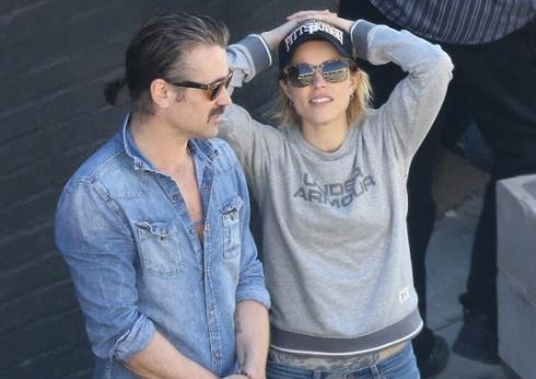 Rachel McAdams i Colin Farrell na planie \